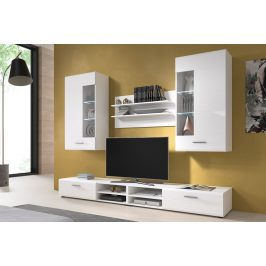 Casarredo Obývací stěna STORM I bílá lesk