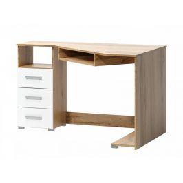 Falco Rohový psací stůl Fatra dub wotan/bílá