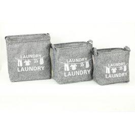 Autronic Koš na prádlo plátěný, 3 kusy DD3101