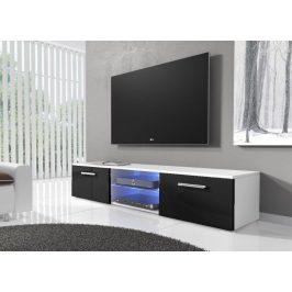 Casarredo TV stolek RTV 03 s LED bílá/černý lesk