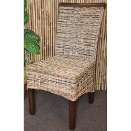 Axin Trading Jídelní židle Larissa wicker mix - dřevo hnědé