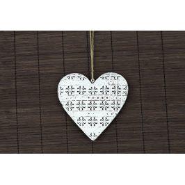Autronic Kovová dekorace srdce ZA8669
