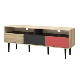 Falco TV stolek Mateo 989 oak/grey/teracotta