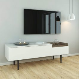 Falco TV stolek Ulla 148 bílá/ořech