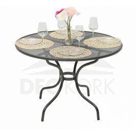 Deokork Kovový stůl kulatý ø 90 cm
