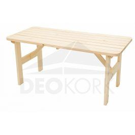 Deokork Masivní dřevěný zahradní stůl z borovice dřevo 32 mm