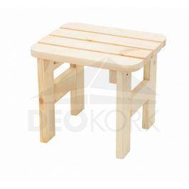 Deokork Masivní dřevěná zahradní stolička z borovice dřevo 32 mm
