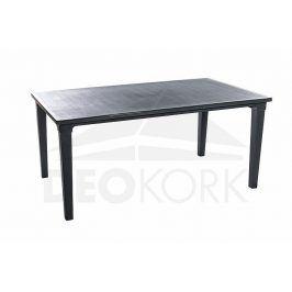 Deokork Zahradní plastový stůl UNION (antracit)