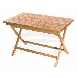 Deokork Zahradní skládací stůl obdelník COIMBRA 120 x 70 cm (teak)