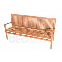 Deokork Zahradní teaková lavice HARMONY 180 cm