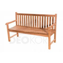 Deokork Zahradní teaková lavice FLORENCIE 150 cm