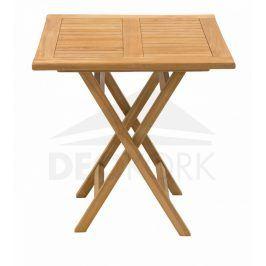 Deokork Zahradní skládací stůl ILLA 70x70 cm (teak)