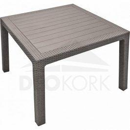 Deokork Zahradní stůl z umělého ratanu MANHATTAN 95x95 cm (cappuccino)