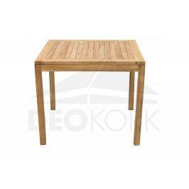 Deokork Zahradní stůl pevný FLORA 90x90 cm (teak)