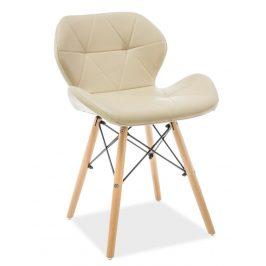 Casarredo Jídelní židle MATIAS cappuccino ekokůže/buk