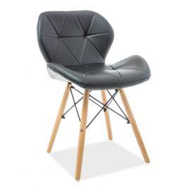 Casarredo Jídelní židle MATIAS černá ekokůže/buk