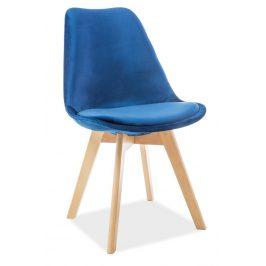 Casarredo Jídelní čalouněná židle DIOR VELVET granátová/buk Židle do kuchyně