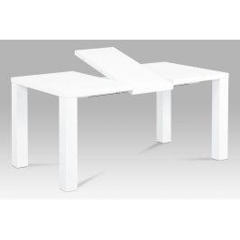 Autronic Jídelní stůl rozkládací 120+40x90 cm, vysoký lesk bílý AT-3009 WT