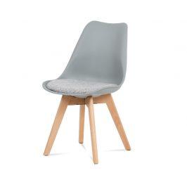 Autronic Jídelní židle CT-722 GREY - šedý plast Židle do kuchyně