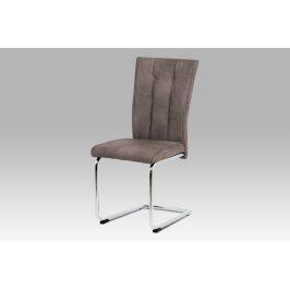 Autronic Jídelní židle DCH-192 BR hnědá koženka