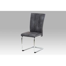 Autronic Jídelní židle DCH-192 GREY šedá koženka