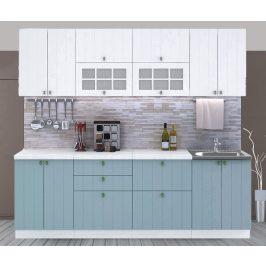 Casarredo Kuchyně PROVENCE 240 bílá/světle modrá