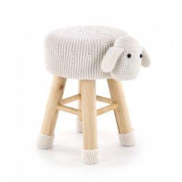 Halmar Taburet Dolly 2 - ovečka krémová Taburety do obýváku