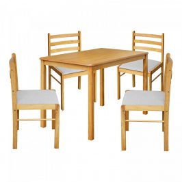 Idea Stůl + 4 židle FARO lak javor