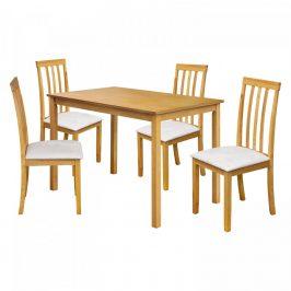 Idea Stůl + 4 židle MALAGA lak javor