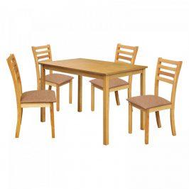 Idea Stůl + 4 židle BARCELONA lak javor