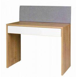 Falco Psací stůl Mefisto R6 dub lefkas/bílá/šedá