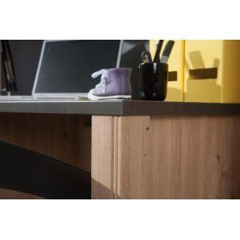Falco Psací stůl Bacardi R6 dub artisan/raw steel