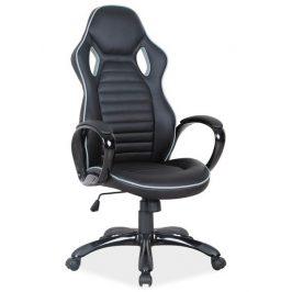 Casarredo Kancelářské křeslo Q-105 černá/šedý okraj