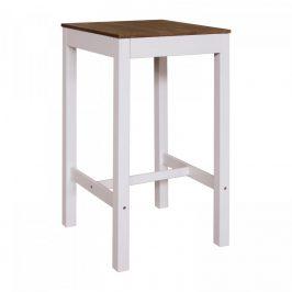 Idea Barový stůl TORINO bílý/hnědý