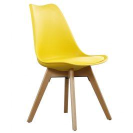 Casarredo Jídelní židle CROSS II žlutá Židle do kuchyně