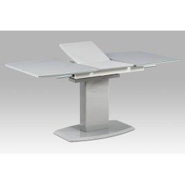 Autronic Jídelní stůl AT-4011 GREY - 120+40x80 cm, šedé sklo + šedá MDF