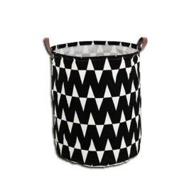 Tempo Kondela Koš na prádlo PLEJO TYP 1 - černý / vzor bílá
