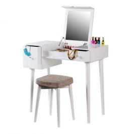 Tempo Kondela Toaletní stolek MARVEL - bílá/hnědá