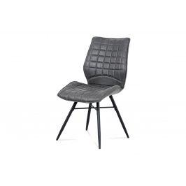 Autronic Jídelní židle HC-444 GREY3 - šedá látka