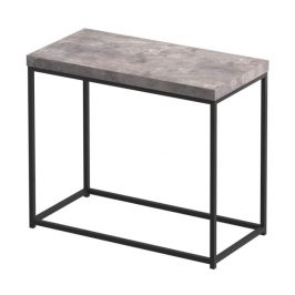Tempo Kondela Příruční stolek TENDER - černá / beton