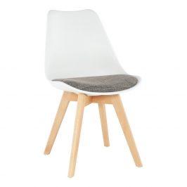 Tempo Kondela Jídelní židle DAMARA - bílá / hnědá Židle do kuchyně