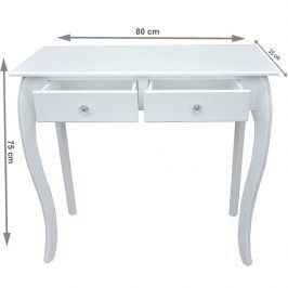 Tempo Kondela Konzolový stolek SLICE - bílá