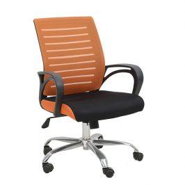 Tempo Kondela Kancelářská židle Lizbon - oranžovo / černá Kancelářská křesla