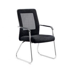 Tempo Kondela Zasedací židle SPAZIO - černá/šedá/chromová