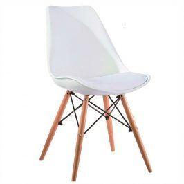 Tempo Kondela Jídelní židle Kemal NEW - bílá / buk