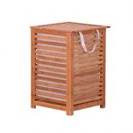 Tempo Kondela Koš na prádlo BASKET - lakovaný bambus/béžová