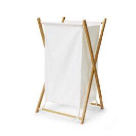 Tempo Kondela Koš na prádlo AVELINO - lakovaný bambus/šedá