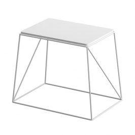Tempo Kondela Příruční stolek KAREL - bílá