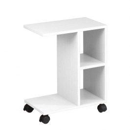 Tempo Kondela Příruční stolek ABBAS NEW - bílá