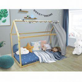 Tempo Kondela Montessori postel VELENA - borovicové dřevo / přírodní